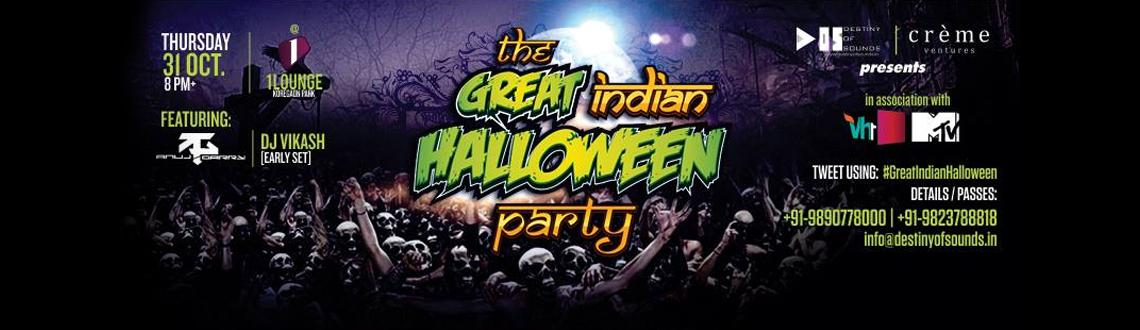 The Great Indian Halloween Party at 1 Lounge | Thur, 31st Oct