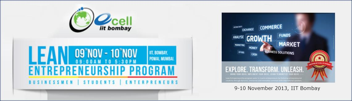 Book Online Tickets for Lean Entrepreneurship Program, Mumbai. Lean Entrepreneurship Program