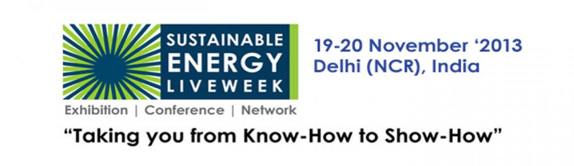 Book Online Tickets for Sustainable Energy Live Week, NewDelhi. Event Details: