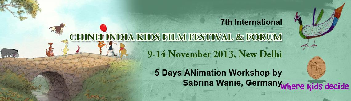 Book Online Tickets for Animation Workshop - Chinh India Kids F1, NewDelhi. 7th International Kids Film Festival & Forum invite kids for Let\'s Connect. A 5 days Animation Workshop by Sabrina Wanie, Germany.