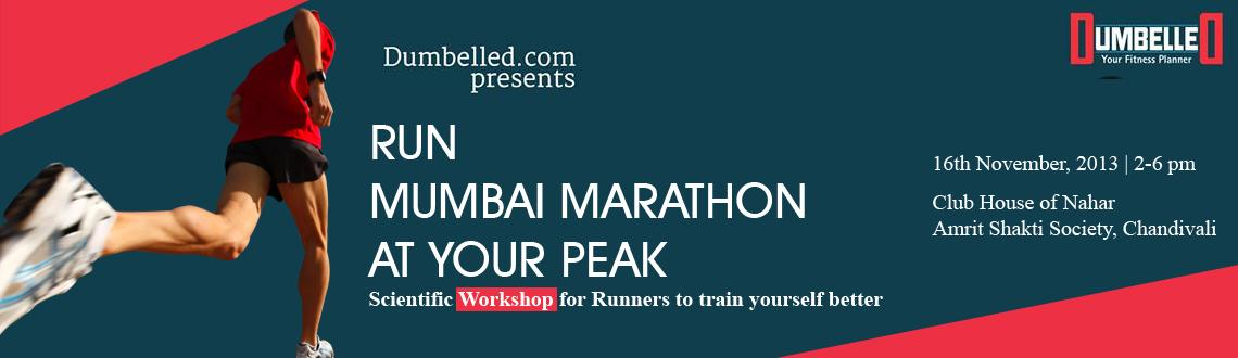 Dumbelled.com presents Workshop for Mumbai Marathon Runners on 16th Nov.