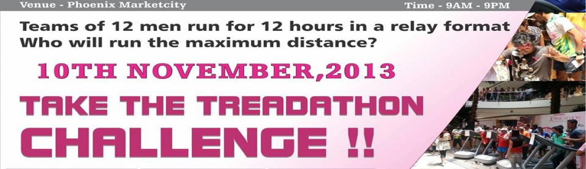 Book Online Tickets for Treadathon for Pinkathon , Pune. Here is a challenge you will love to participate in!Form your team of up to 12 runners. We give you a treadmill in Phoenix market city Mall for 12 hours, 9AM- 9PM. Team that clocks maximum number of kilometers in the given time is the winner!Best if