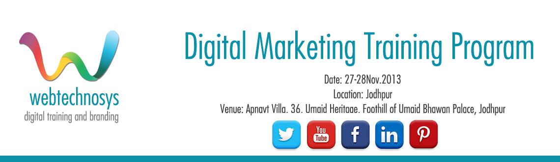 Book Online Tickets for Social Media Training Workshop,Jodhpur, Other. Social Media Training Workshop, covers CSMMP (Certified Social Media Marketing Professional) Certification by Digital Vidya can be your entry into the ever expanding world of Digital Media.