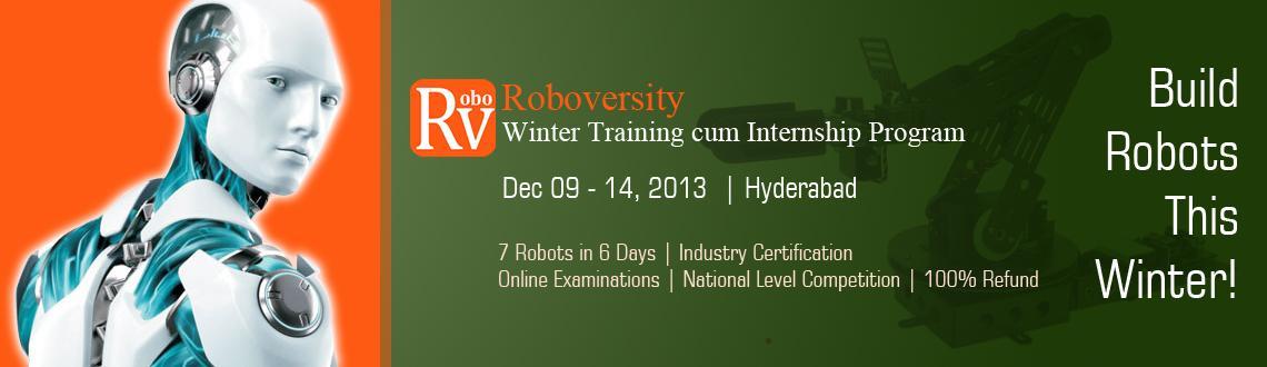 Roboversity Winter Training cum Internship Program in Robotics at Hyderabad