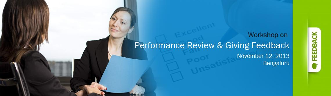 Workshop on Performance Review & Giving Feedback - Bangalore