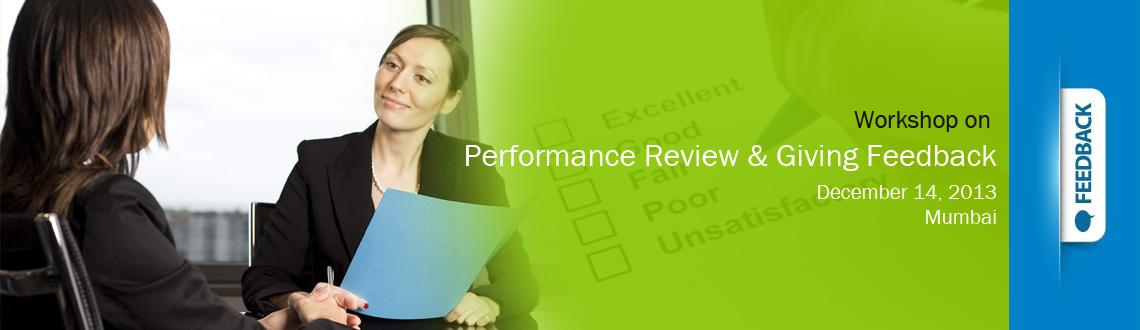 Workshop on Performance Review & Giving Feedback - Mumbai