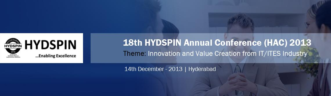 Book Online Tickets for HYDSPIN Annual Conference , Hyderabad.