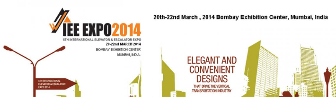Book Online Tickets for IEE Expo 2014, Mumbai. The International Elevator and Escalator Expo 2014 is being held at the Bombay Exhibition Center, Goregaon, Mumbai from 20th-22nd March,2014 which leads to an opportunity to the vertical transportation industry to showcase their products and services
