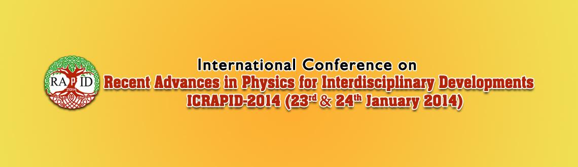 Book Online Tickets for International Conference on Recent Advan, Chennai. DETAILS: