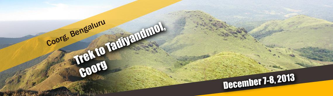 Book Online Tickets for Trek to Tadiyandmol, Coorg , Bengaluru. Located in Coorg, Tadiyandamol is the second highest peak in Karnataka. A combination of scenic beauty yet being not too strenuous, Tadiandamol is the perfect introduction for anyone who wants to take up trekking.We start from Bangalore on Frid