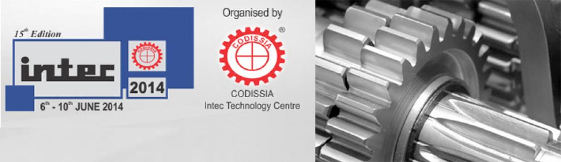 Book Online Tickets for Intec 2014, Coimbatore. This much-awaited International Industrial Trade Fair INTEC 2014 IS brought to you by CODISSIA - The Coimbatore District Small Industries Association, brings together the very best intechnological advancement. INTEC is a congregation of various Indus