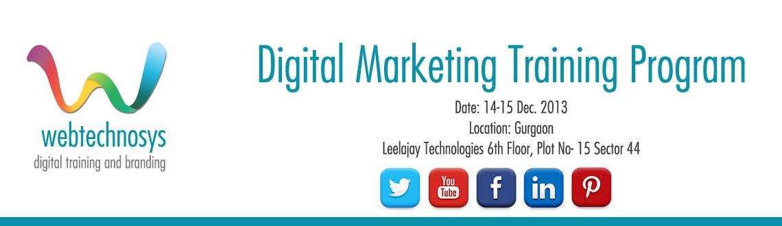 Book Online Tickets for Digital Marketing Training Program in De, Gurugram. An increasing number of brands across the globe have started to leverage Digital platform  to fulfill various business objectives such as Brand Building, Lead Generation, Customer Acquisition, CRM, and Market Research.