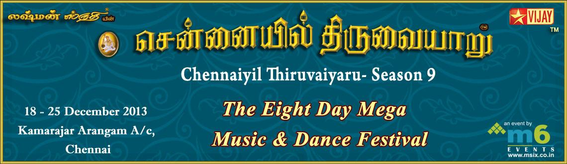 Book Online Tickets for Chennaiyil Thiruvaiyaru - Season 9, Chennai. 