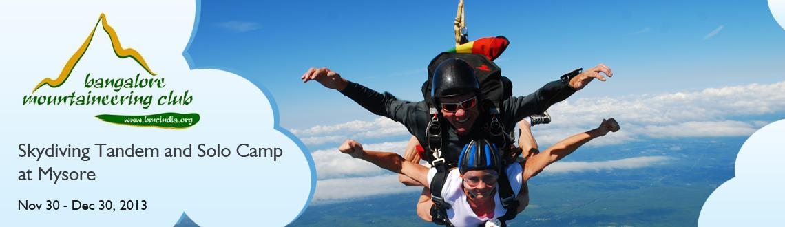 Skydiving Tandem and Solo Camp at Mysore