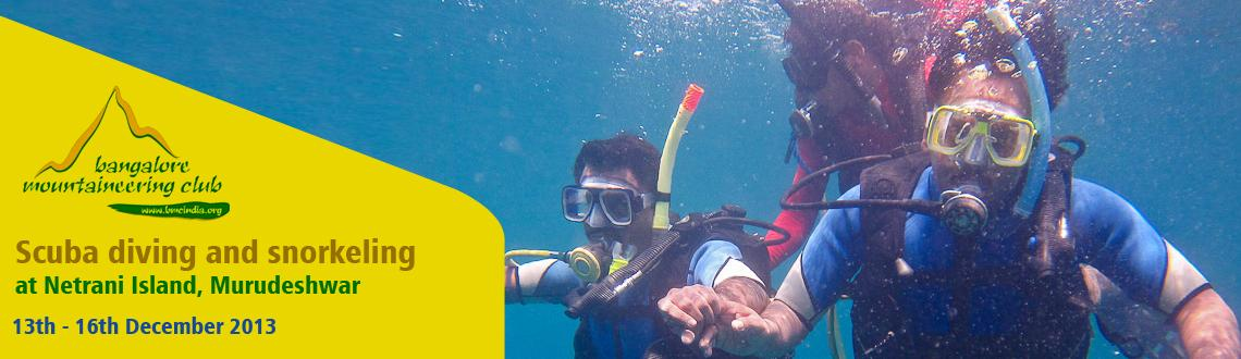 Book Online Tickets for Scuba diving and snorkeling at Netrani I, Bengaluru. Netrani Island:Locally known as Netragudo.The tiny uninhabited Island of Netrani lies 10 nautical miles off the coastal Light House of Bhatkal. With depths ranging from 6 to 40 meters, and visibility between 15 to 30 meters, this island offers excell