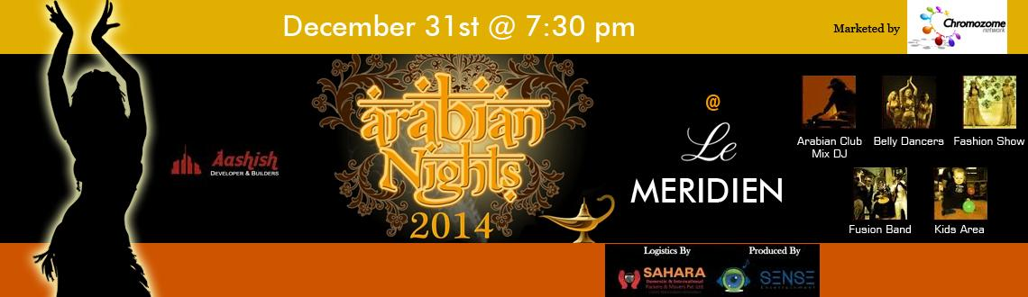 Book Online Tickets for Arabian Nights at Le-Meridien., Bengaluru. The theme is designed as per the native of authentic and traditional Arabian nights. The decoration is of rich and deep shades of red, purple, emerald colored curtains, magic lamps, genie lamps, colored glass pebbles, hula hoops, empty wine bott