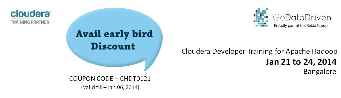 Book Online Tickets for Cloudera Hadoop Developer Training at Ba, Bengaluru. Course OverviewThis four-day training course is for developers who want to learn to use Apache Hadoop to build powerful data processing applications.