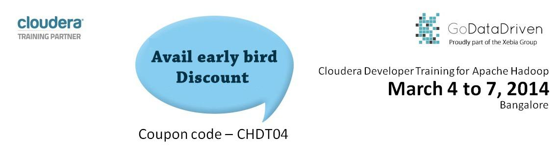 Book Online Tickets for Cloudera Hadoop Developer Training at Ba, Gurugram. Course OverviewThis four-day training course is for developers who want to learn to use Apache Hadoop to build powerful data processing applications. Prerequisites:This course is appropriate for developers who will be writing, maintainin