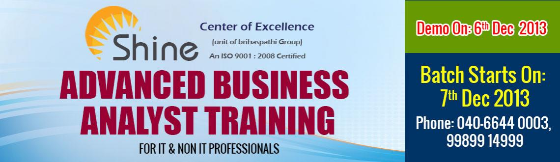 Book Online Tickets for Advanced Business Analyst Training, Hyderabad. 