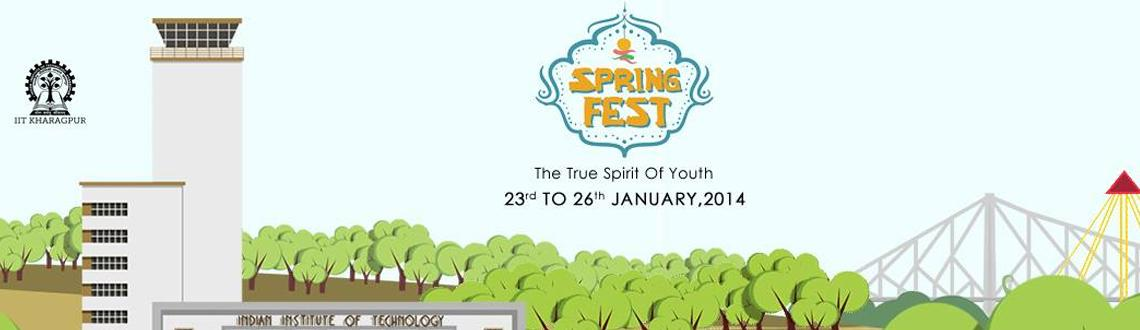 "Book Online Tickets for SPRING FEST, Kharagpur. Spring Fest is the annual Social and Cultural festival of Indian Institute Of Technology, Kharagpur and is the largest of its kind in the country. The fest promises to be ""The True Spirit of Youth"". Spring Fest celebrated its golden jubil"