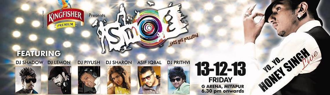 "Book Online Tickets for SMOG 2013, Hyderabad. ""SMOG"" is biggest open air show happening in Hyderabad on the 14th of December 2013, this event includes India and international top Dj's performing fusion followed by a special performance by the country's music sen"