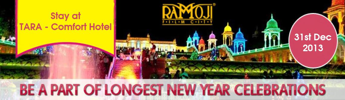 Book Online Tickets for 2 Night Stay Package 30th-31st Dec @ Tar, Hyderabad. Celebrate the New Year's Eve in the picturesque Ramoji Film City  by being a part of the longest New Year Celebrations, which is being organized as a part of the annual winter fest. So, gear up to spend the New Year's Eve in the reno