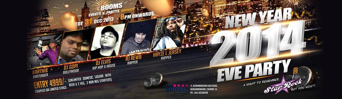 Book Online Tickets for NEW YEAR 2014 EVE PARTY, Chennai. Experience an extravagant Night this New Year's Eve in Chennai at the NEW YEAR 2014 EVE PARTY in Chennai, which is featuring an array of DJs, Rappers, B Boys and Jugglers all lined up to ensure that there is no stone unturned in terms of the en