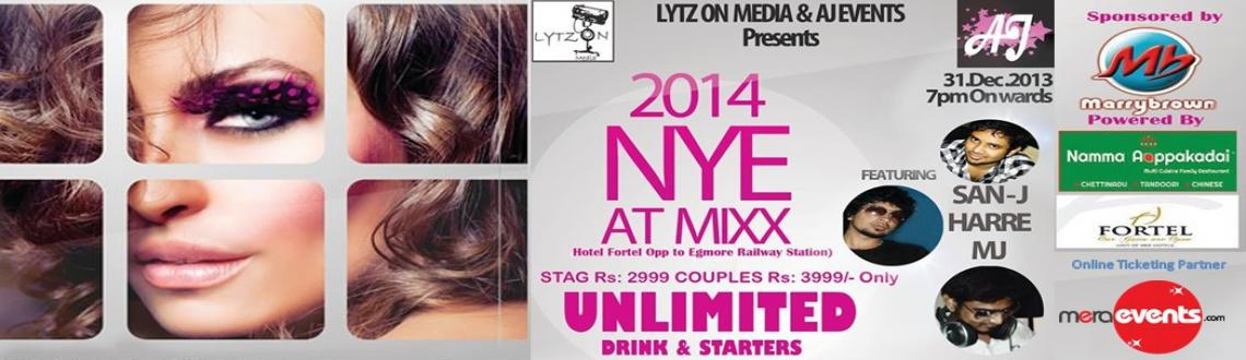 Book Online Tickets for NYE 2014, Chennai. YTZ ON MEDIA (L.O.M)  in association with the AJ events is organizing NYE 2014 at MIXX in Chennai. The event would feature around three DJs taking on the console back to back to keep the music playing all night long.