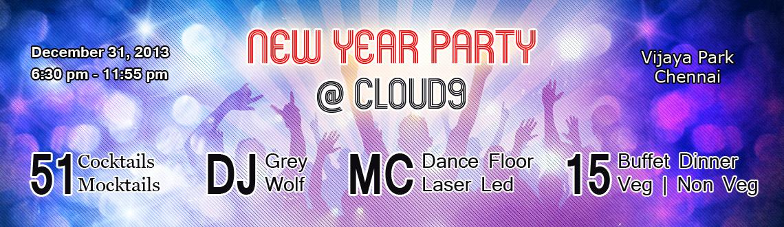 Book Online Tickets for New Year Party @ Cloud9, Chennai. New Year is a time for joy and celebrations so why not experience the bliss of partying sans any worry and welcome the New Year with all hopes and joy. The New Year Party at Cloud 9 Chennai is sure to be destination to head to this New Year's E