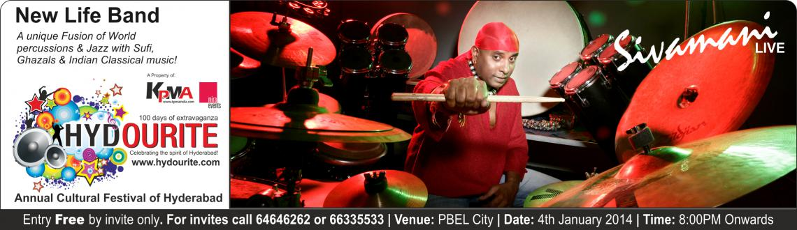 Book Online Tickets for New Life by Sivamani, Hyderabad. New Life by Sivamani | Stephen Devassy | Runa Rizvi