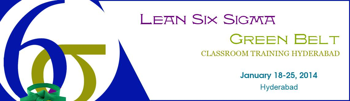 Book Online Tickets for Six Sigma Green Belt Classroom Training , Hyderabad. GreyCampus brings to you a highly interactive 3-day classroom training and certification program for the Six Sigma Green Belt at Bangalore on 18th, 19th & 25th January,2014