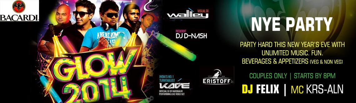 Book Online Tickets for GLOW 2014 - NYE, Chennai. The Candy Club in Chennai is hosting the biggest New Year Party in town featuring a stellar line up of artists like Ft. VDJ Walley (Live Visuals), DJ Kave (India's No 1 Turntablist and official DJ of Hard Kaur Performing Live Video), DJ Felix (