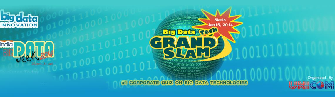 Book Online Tickets for Corporate Quiz on Big Data- 2014, Bengaluru. Big Data Technology Grand Slam is an initiative of India Big Data Week 2014 (IBDW2014) and UNICOM to run India\\\'s most prestigious Corporate Quiz on Big Data Technologies.for more details- http://www.bigdatainnovation.org/contest