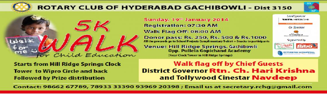 Book Online Tickets for 5K Walk, Hyderabad.  
