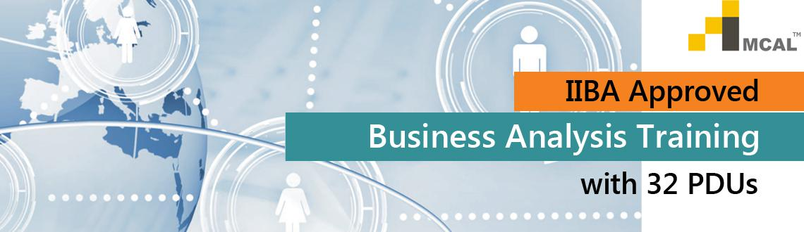 IIBA Approved Business Analysis Training with 32 PDUs