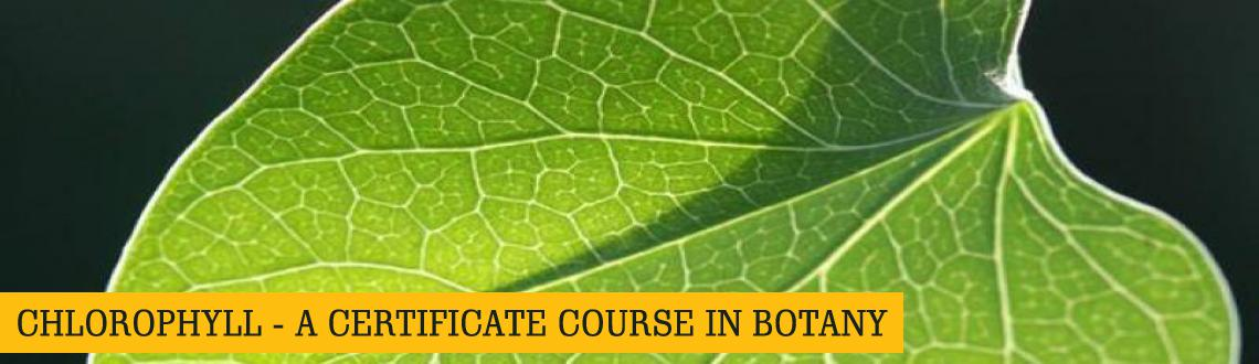 CHLOROPHYLL - A CERTIFICATE COURSE IN BOTANY from 18 January to 19 April