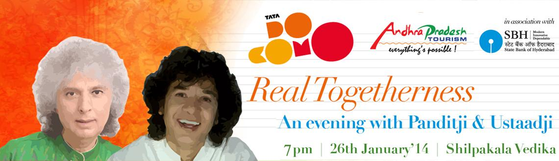 Real Togetherness an evening with Pandit Shivkumar Sharma and Ustad Zakir Hussain @ Shilpakala Vedika