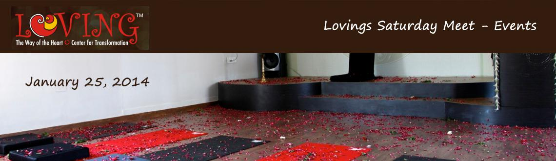 Book Online Tickets for Lovings Saturday Meet - Events, Ahmedabad.  Lets meetup every saturday at Loving\\\'s Wellness Studio to listen to various guest speakers on different subjects like meditation, organic food, medicine, health, alternative medicine, science, innovation, peace or healthy lifestyle followe