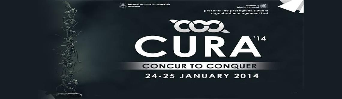 Book Online Tickets for Cura 14, Warangal. Cura, a national level management meet arrives again with a new cover Cura'14 with many exciting events wrapped in it. Cura is the right platform to exhibit and amplify your skills which you have obtained theoretically. Your talent will be revi