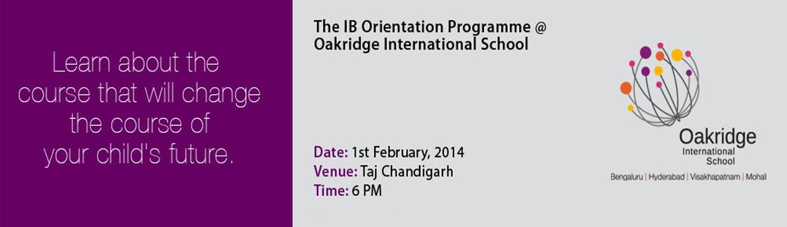 Orientation Programme on IB (International Baccalaureate)