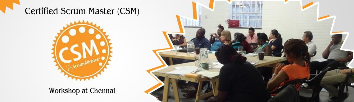 Book Online Tickets for Certified Scrum Master (CSM) Workshop at, Chennai. With the ever growing need to learn agile and scrum, here is an advancement to get internationally accredited Certified Scrum Master, which can help you plan your projects in parts and will ensure that you will definitely have some deliverable at a g