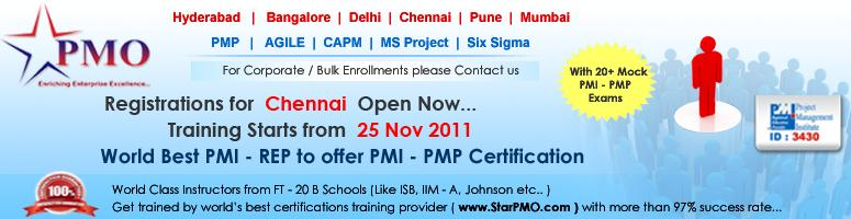 Book Online Tickets for Project Management Professional (PMP) Ce, Chennai. PMP Certification Workshop with Free training on MSP 2010