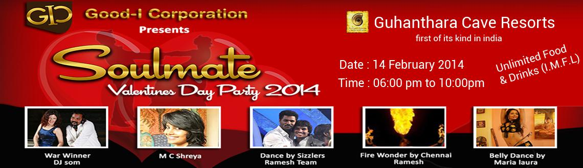 "Book Online Tickets for SOULMATE - Valentines Day Party 2014, Bengaluru. The season of Love is here and that calls for a celebration, so make sure you head to the ""Soul mate"" with your Soul mate this year and make it a treasured moment of your life as the Good-I Corporation is organizing the biggest Valentine&"