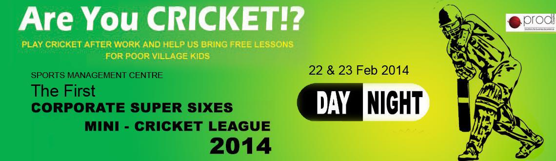 Book Online Tickets for Are You Cricket - The First Corporate Su, Hyderabad. Play Cricket After Work and Help Us Bring Free Lessons for Poor Village Kids