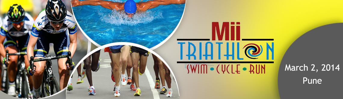Book Online Tickets for MII Triathlon on 2nd March 2014 , Pune. The event will start with Swimming at Bhugaon Lake and Finish with Run at Camp M I, Village Andgaon on Lavasa Road. The details of the route for Cycle and Run are given at www.miitriathlon.com. There will be three categories for Men and Women (Unde