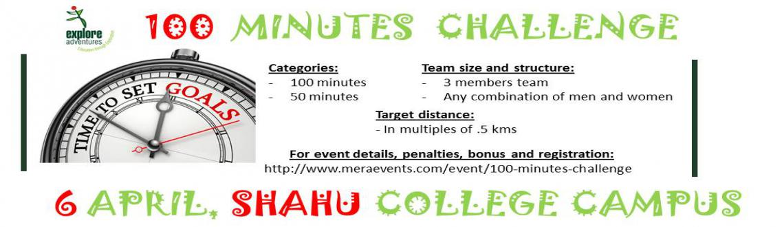Book Online Tickets for 100 Minutes Challenge, Pune. Race Format: