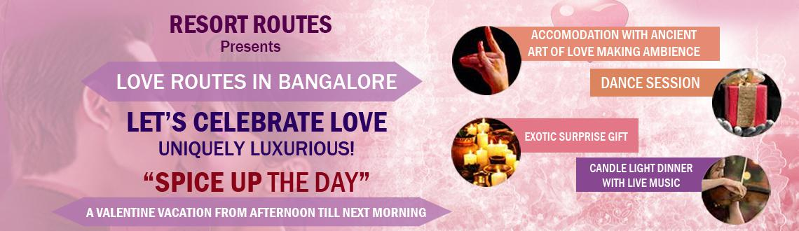 "Book Online Tickets for Spice Up The Day - A Valentine Vacation, Bengaluru. Spice Up the Day: Be the king and queen of the Day. Check into the resort – Taj Kuteeram and will proceed to Nityagram, where the lunch will be served and enjoy the dance session. Back in the resort, be ready for the ""Session of Togethern"