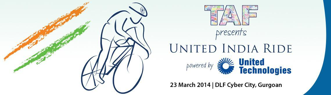Book Online Tickets for Payment for United India Ride 2014 from , Gurugram. TAF presents United India Ride on 23 March 2014 at DLF Cyber City, Gurgoan.