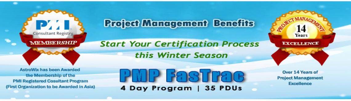 Book Online Tickets for Refresh PM Skills with AstroWixs PMP Cer, Bengaluru. AstroWix's program for PMP Certification Bangalore is designed to deliver a thorough appreciation of the principles and workings of the 5 basic process groups and 10 knowledge areas outlined by PMBOK Fifth Addition. The PMP FasTrac to be held i