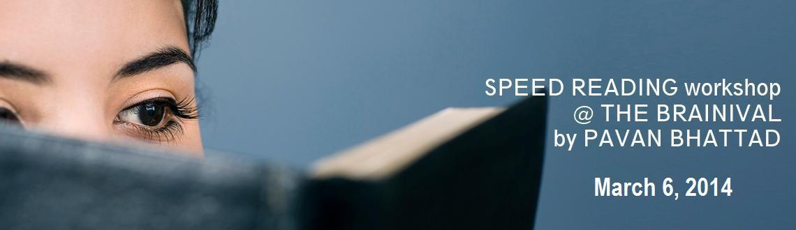 SPEED READING workshop @ THE BRAINIVAL by PAVAN BHATTAD